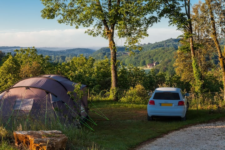 Dordogne Campsite - A Place in the Leaves