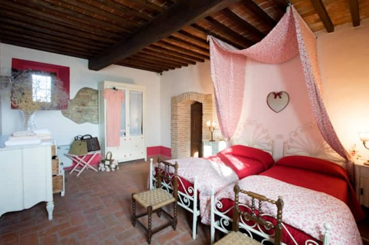 charming panoramic B&B in medieval fortress