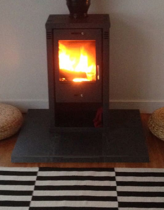 Toastie! warm yourself by the log burner after a winter walk along the Jurassic Coast!