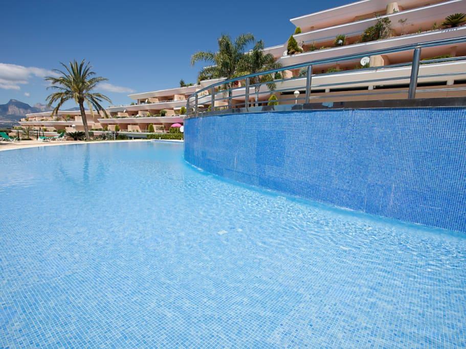 Enjoy the pools