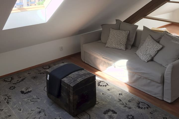 Loft apartment near center/O2 Arena for 5 people