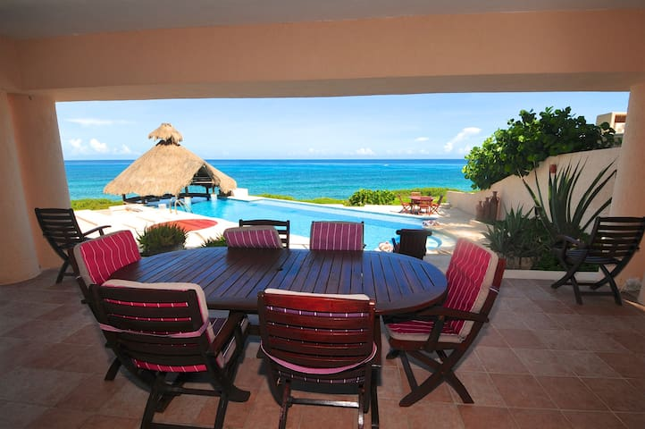 Caribbean Views. 4 BR, 5 BA fully furnished home. - Quintana Roo - House