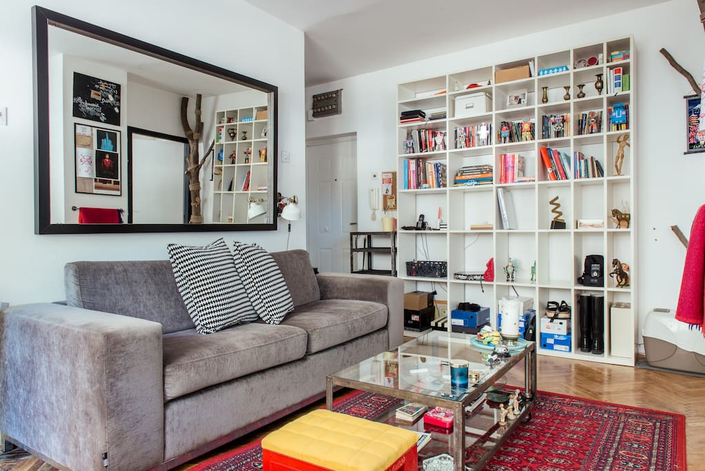 Living room - sofa and shelf