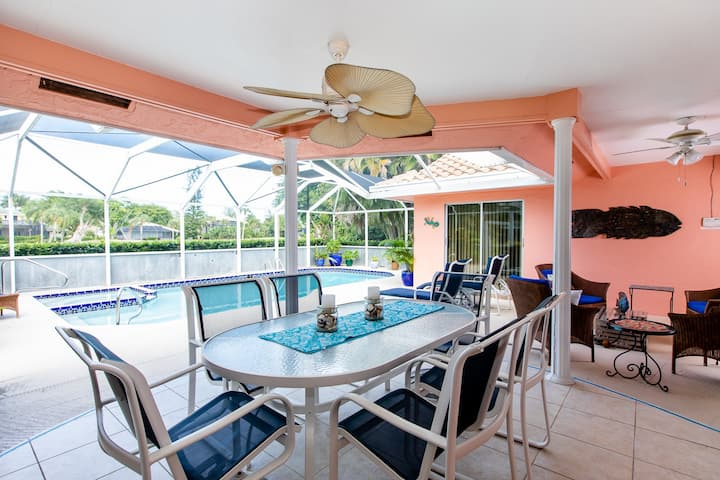 ON THE GREEN- GOLFERS DREAM HOME WITH PRIVATE POOL, PUBLIC GOLF COURSE AND IT BEING CLOSE TO EVERYTHING ON SANIBEL!