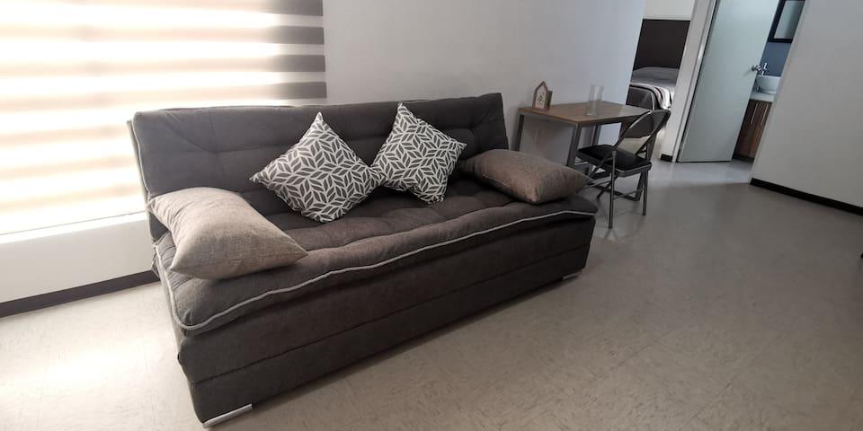 Un espacio confortante y acogedor.
