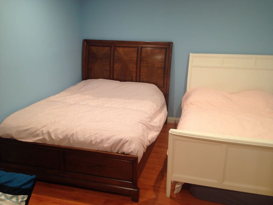 two bed one queen     size another full size