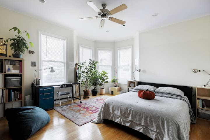 Bright and Large Master Bedroom with private bath!