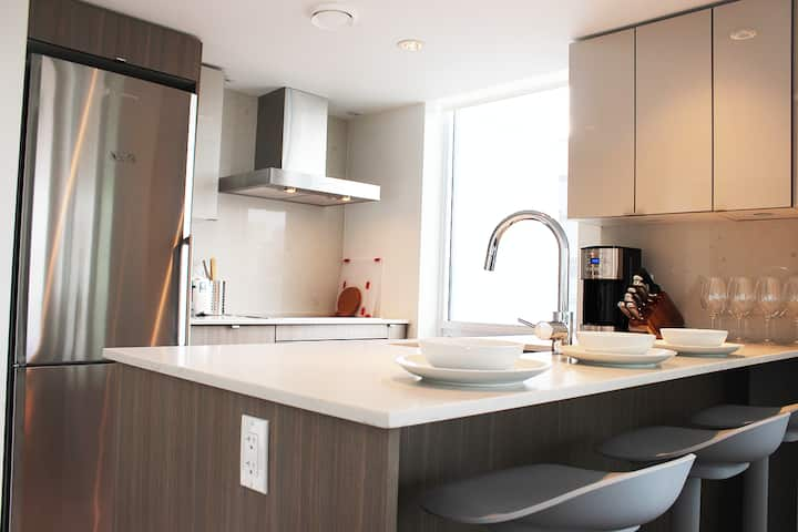 *NEW* 1BR Olympic Village! Private, Patio, Parking