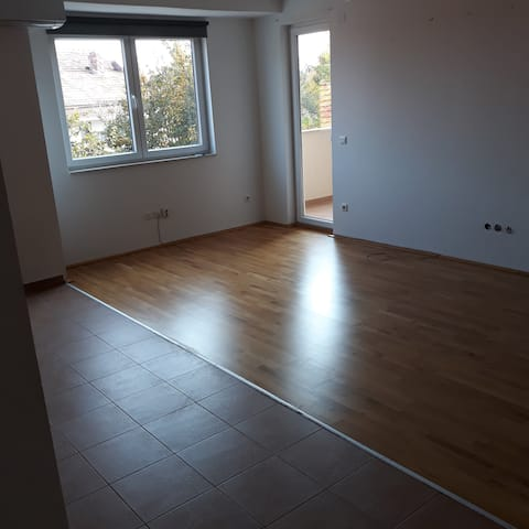 New apartment with two bedrooms and living room