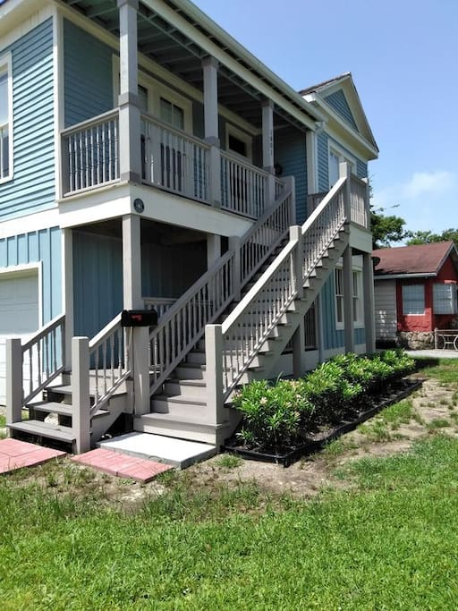 AWorldAway from the corner of the yard!  Take the front stairs to the front door on the second floor!