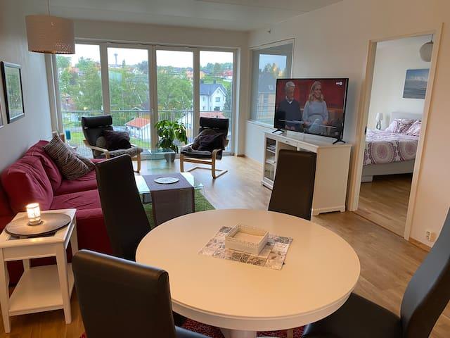 Moderne leilighet på toppen av et kjøpesenter.