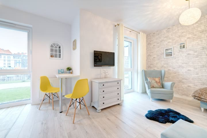 Apartament Błękitny nad Motławą