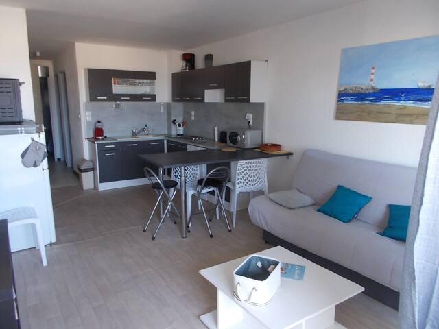New !!! Appartement avec clim,T3, en front de mer.