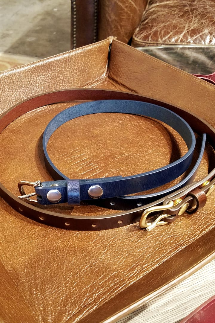 Women's Full Grain Belts at 3/4""