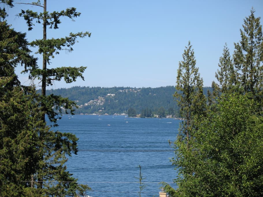 View of Lake Sammamish from every room.