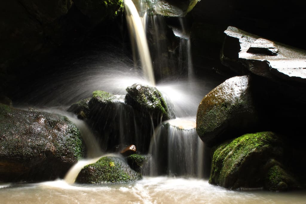 Falls trickle away around late summer but can recharge anytime, with rain