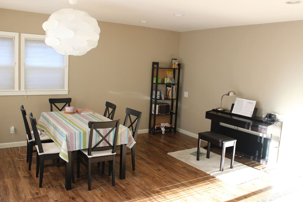 dinning room with music