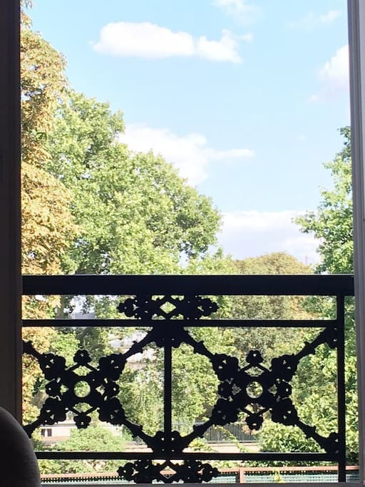 View on Matignon's gardens