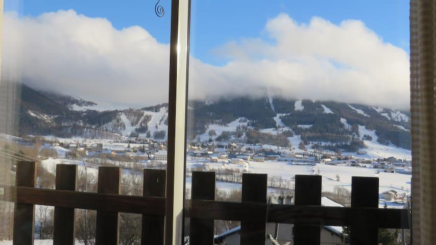 Vue panoramique  à Ancelle, super ! - Ancelle - Apartamento