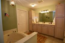 Master Bath with Jacuzzi and Closet