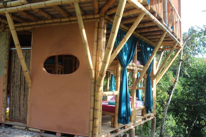 Mariposa - Bottom Bunk in Bamboo Pentagon House