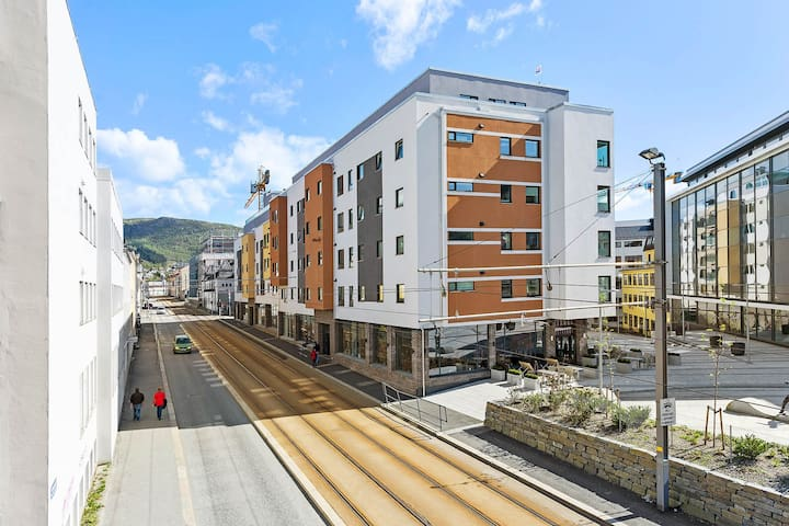 The Building. 2 Minutes from Bergen Lightrail Station. 5 Minutes from city center