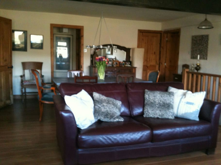 Large lounge with stunning views ideal for socialising or relaxing