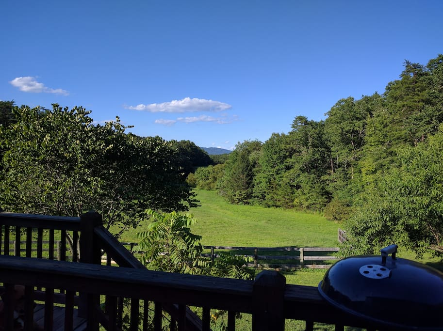 Summer view from back deck.