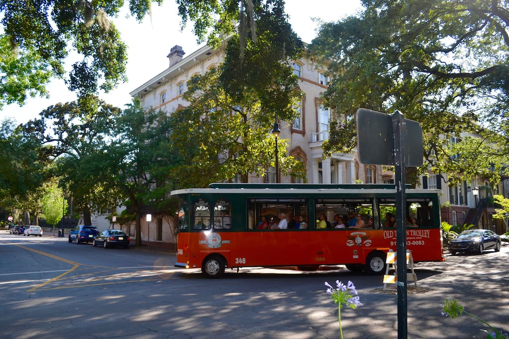 Historic trolley tours come by our house