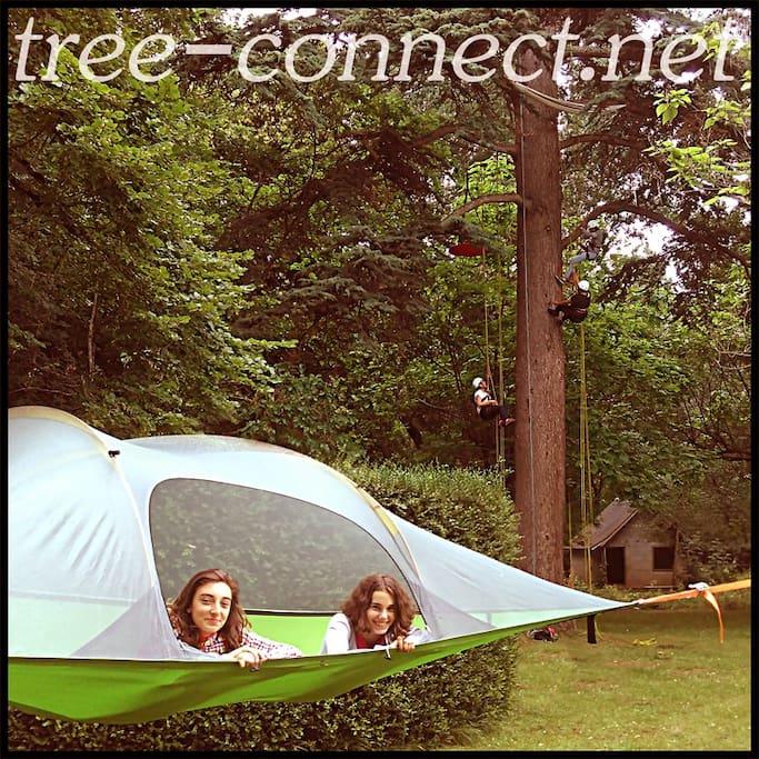 Tree connect, location et installation de tentsile dans les arbres en Dordogne