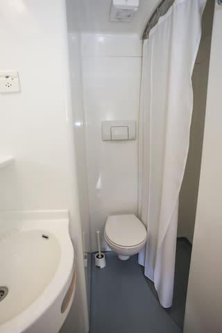 Chambre double avec douche et WC