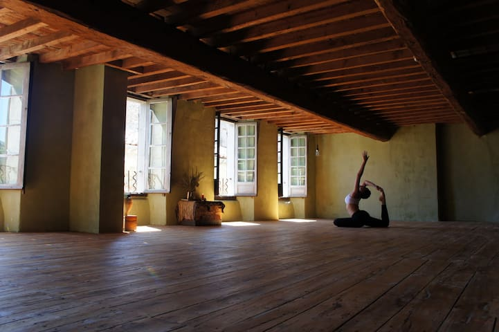 Vegan delights, meditation, yoga, Claire's Suite - Chalabre - Hus