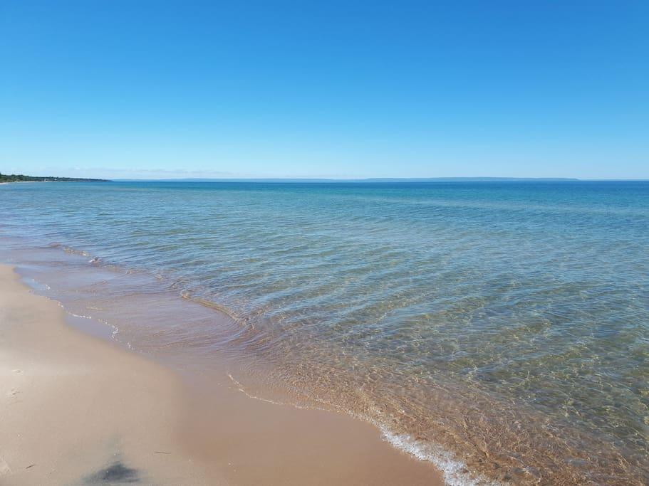 Beautiful, clean, sandy beach
