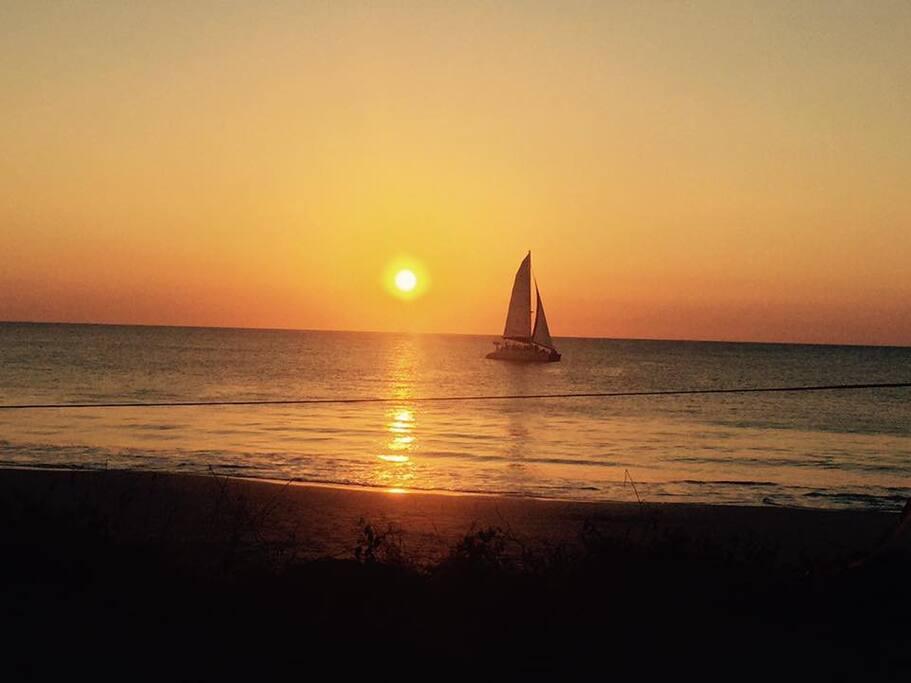 You can enjoy Beautiful Sunsets from Potrero Beach!!