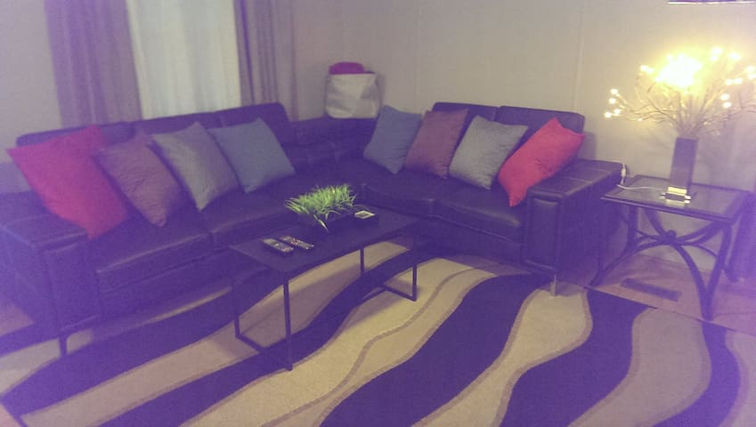Living room with corner sectional