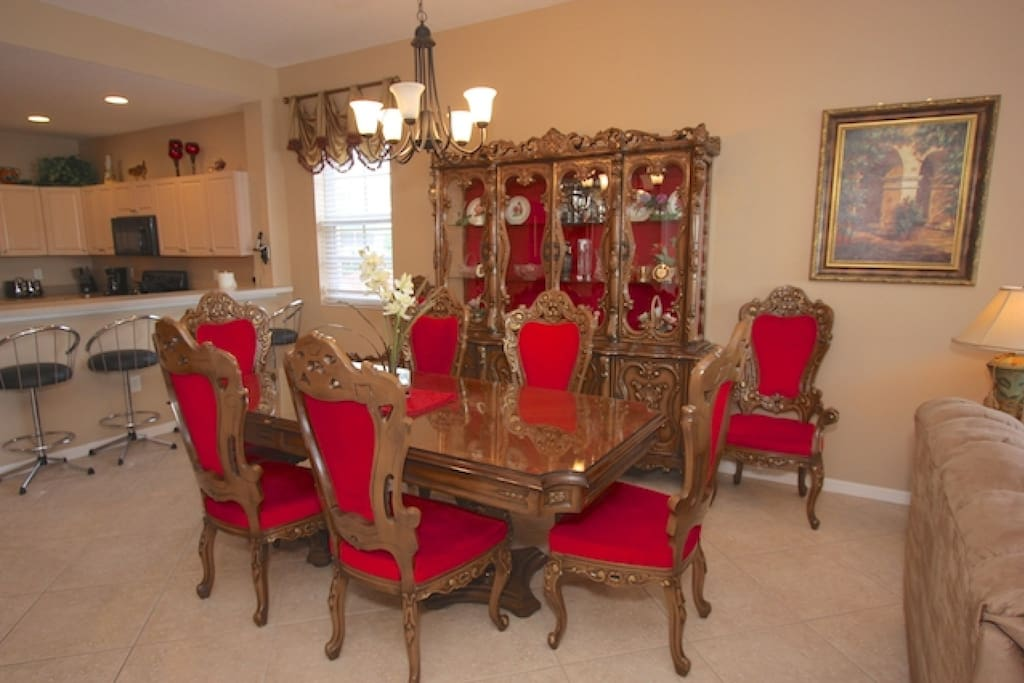 Open Dining Area with Seating for 6. Enjoy a Savory Meal or Entertain from The Kitchen to the Living Room