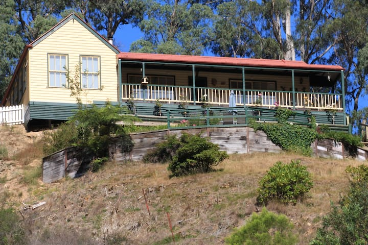 Wild Cherry B&B is located in the historical old gold mining town of Walhalla Vic.. Perched on the side of a steep valley we have glorious views of this very picturesque town. Explore the historical gold mine, ride the scenic railway and visit the original old 1880's buildings and museums.