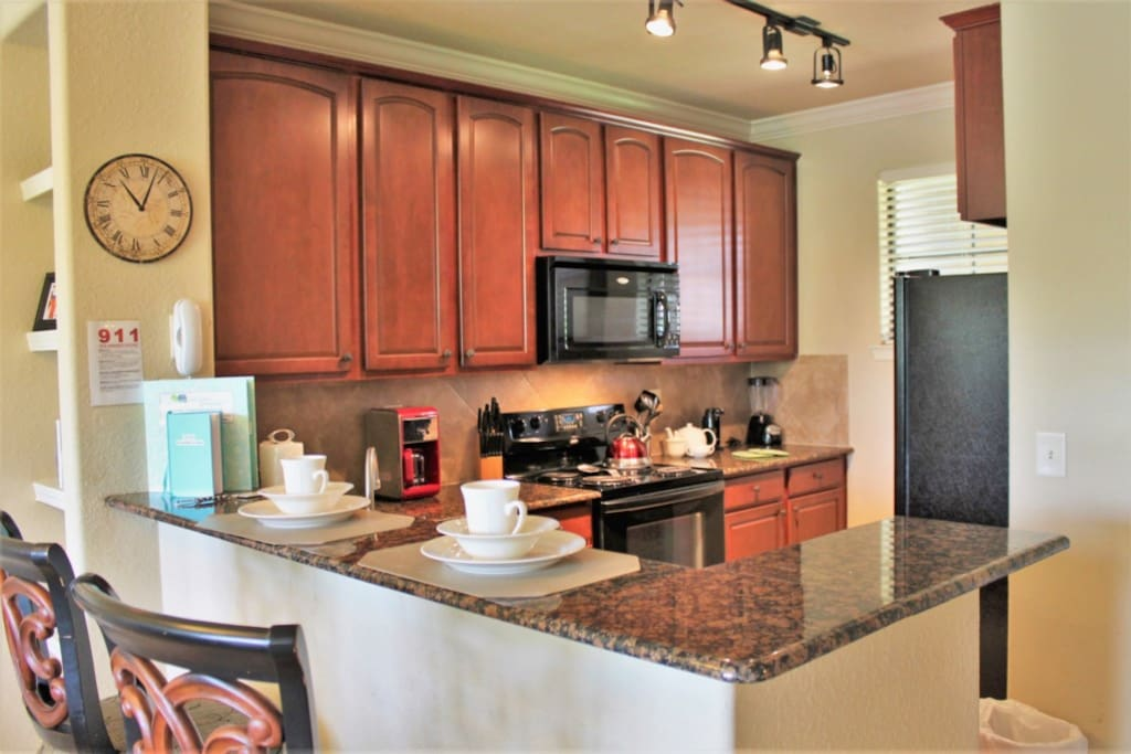 Open Concept Kitchen with Breakfast Bar