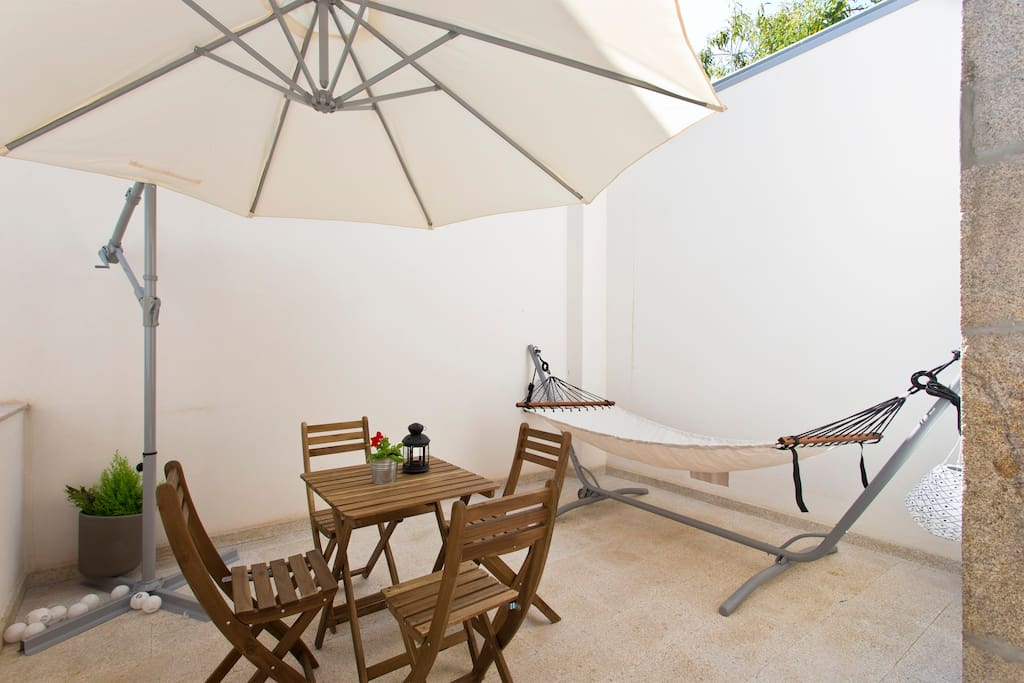 Spacious patio for great late night talks while you drink a glass of wine.