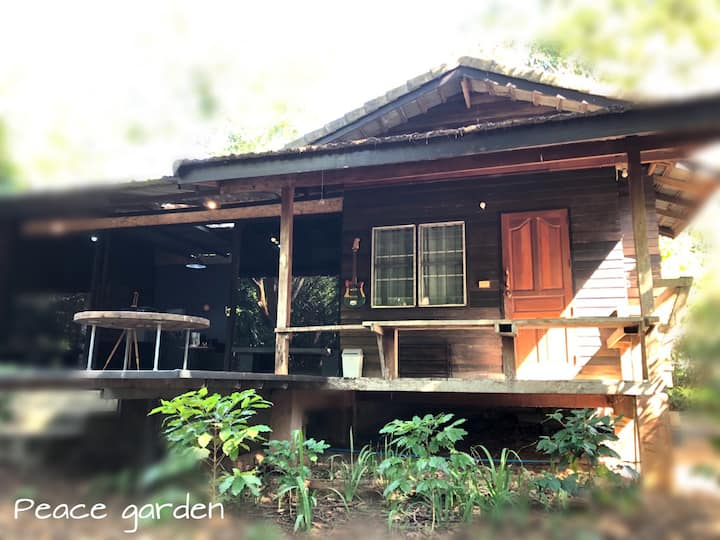 Twin House; live in Peace Garden