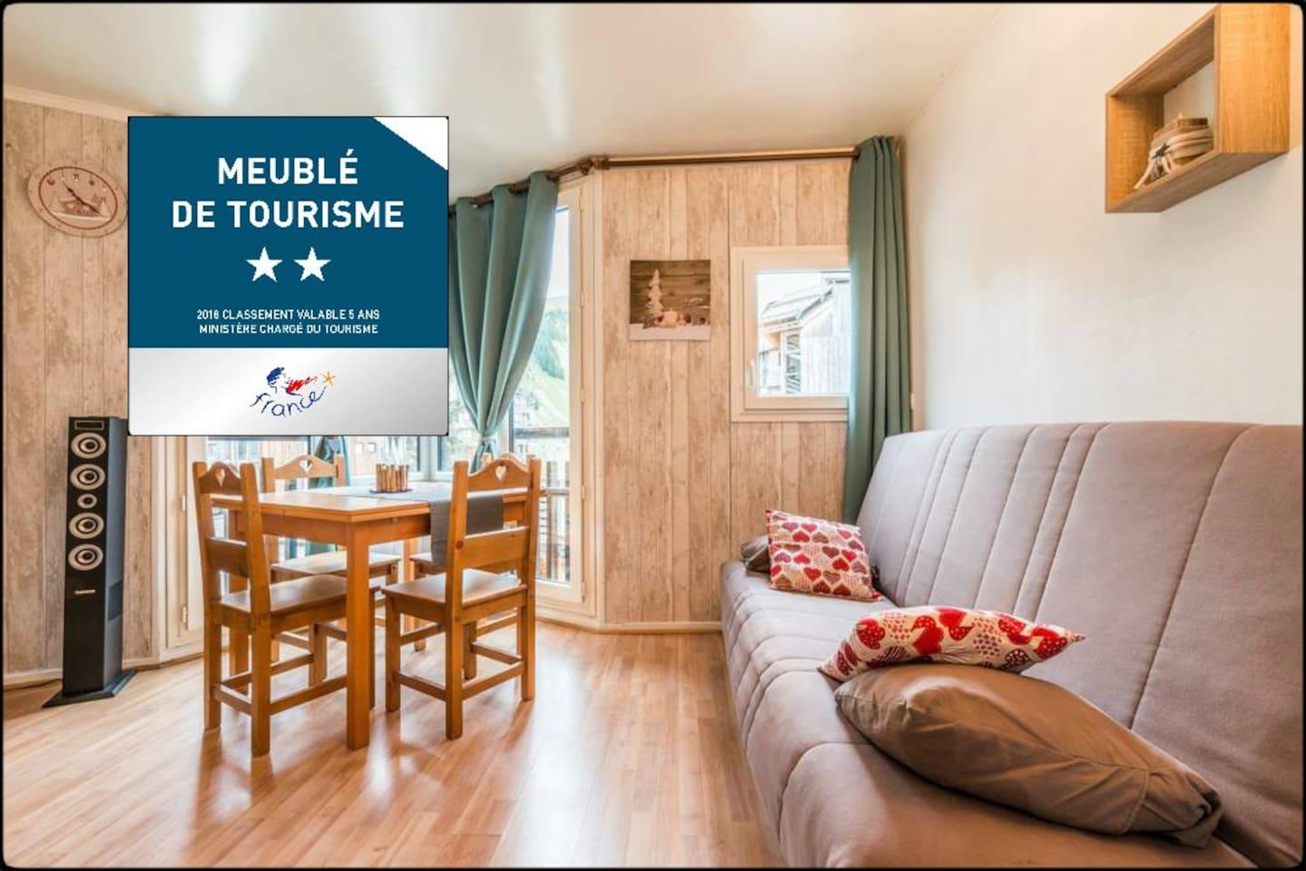 Appartement classé meublé de tourisme 2 étoiles :-)