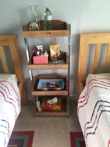 Handy place for snacks, tissues, fan, Tv remote and storing your phone nearby !