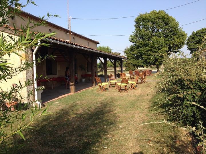 Grande maison dans un domaine viticole