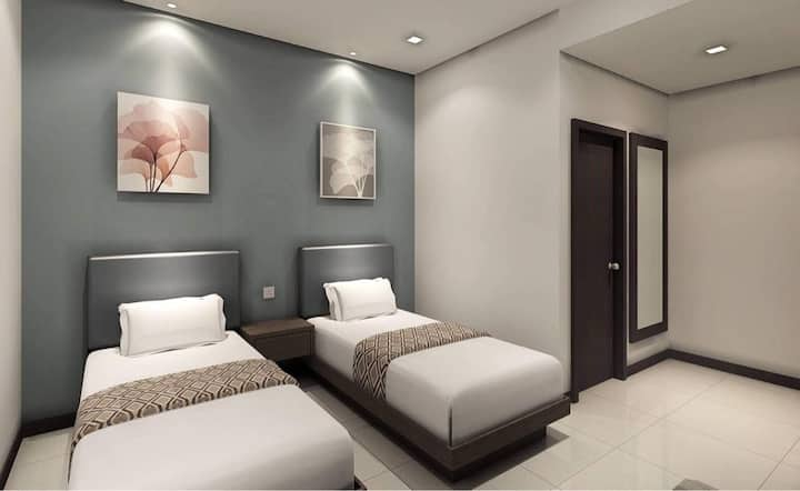 Twin Room near D Pulze Shopping Mall #HBC04