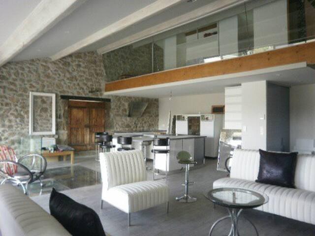 LOFT MODERNE DANS CHAIE EN PIERRE ET VERRE - Montblanc - Loft