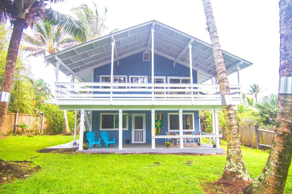 private downstairs bungalow with ocean view.