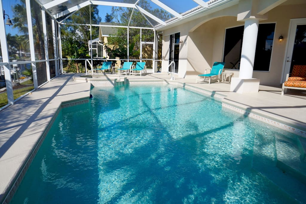 Pool and Lounging Area on Patio