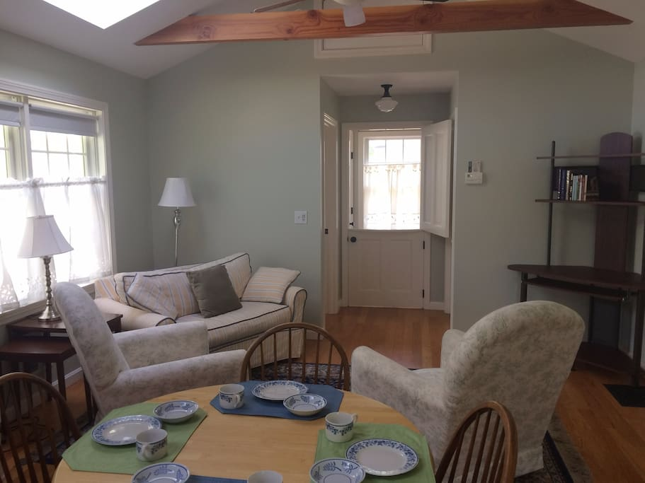 The Living Area and Front (Dutch) Door -