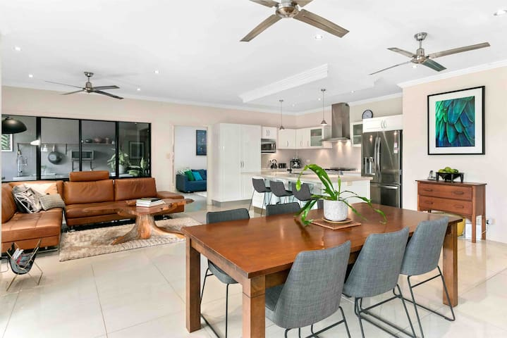 Spacious open plan kitchen and dining area
