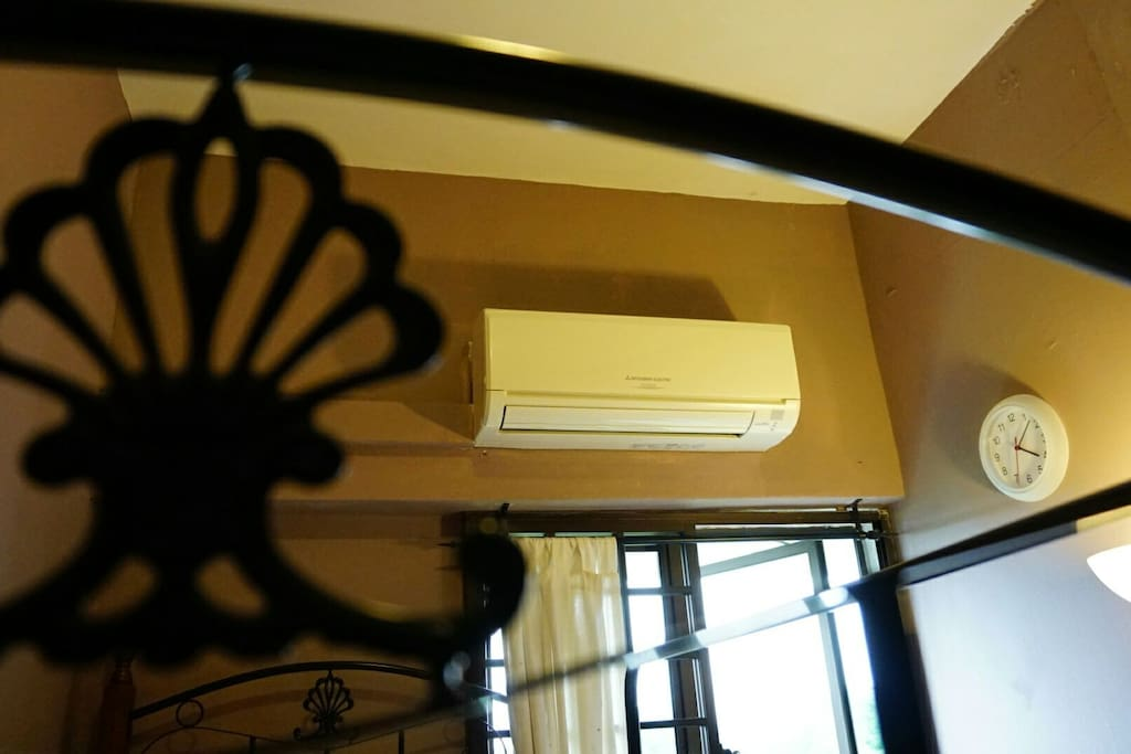 Aircon to keep you cool!  (Please set to Economy Mode and switch off when not in use please)